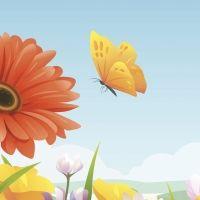 Volando vas mariposa. Poema con rima para niños