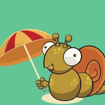 El caracol con sombrilla