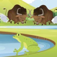 Los toros y las ranas. Fábula tradicional para niños