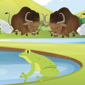 Los toros y las ranas