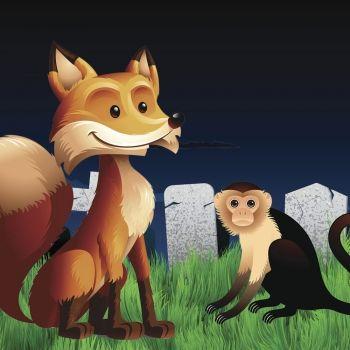 El zorro y el mono disputando su nobleza