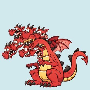 El dragón de las siete cabezas