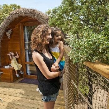 Cabañas de los árboles. Unas vacaciones diferentes con los niños
