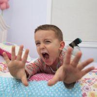 Rabietas cuando el niño está agotado