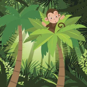 El mono Micolás se pierde. Fábula para niños sobre los peligros