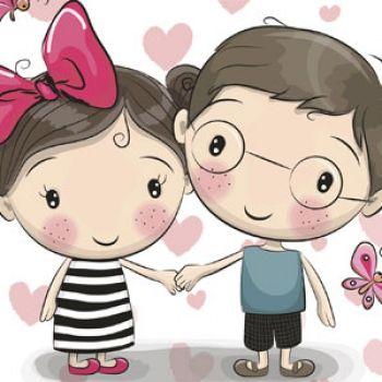 Amor en la escuela. Poema para niños que se sienten enamorados