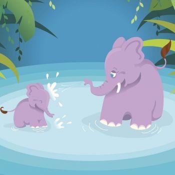 Chiquitín y los elefantes desobedientes. Cuento para niños rebeldes