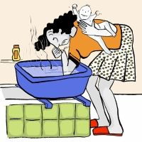 El embarazo y el parto en ilustraciones y dibujos