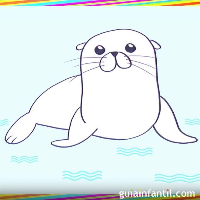 Cómo hacer, paso a paso, un dibujo de un león marino