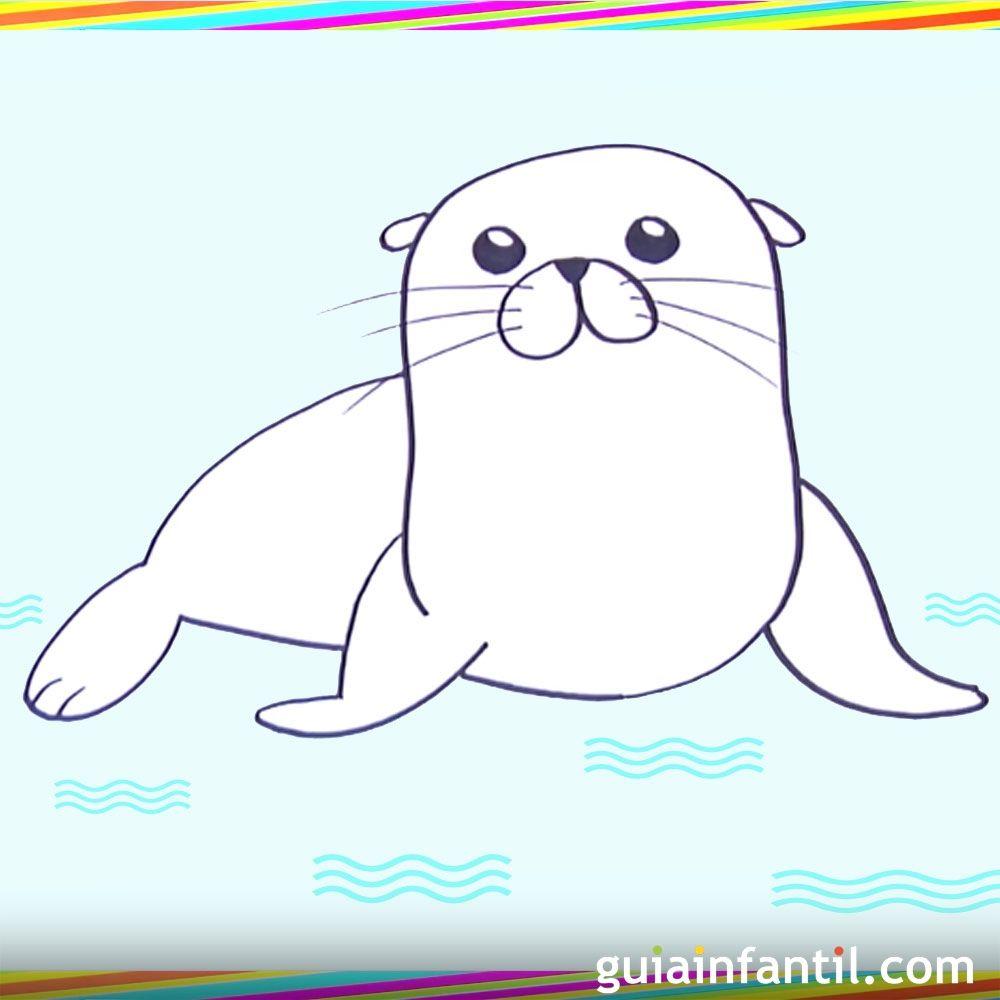 cmo hacer paso a paso un dibujo de un len marino