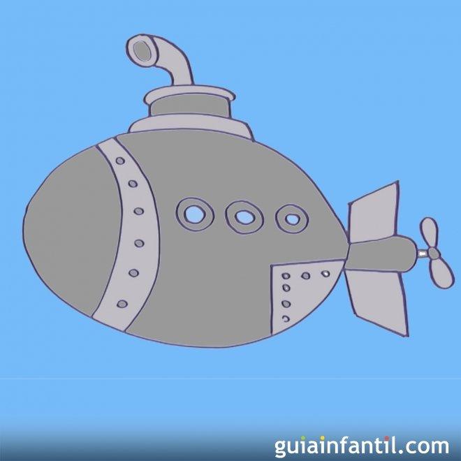 Cómo Hacer Paso A Paso Un Dibujo De Un Submarino