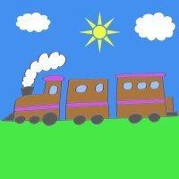 Cómo hacer, paso a paso, un dibujo de un tren