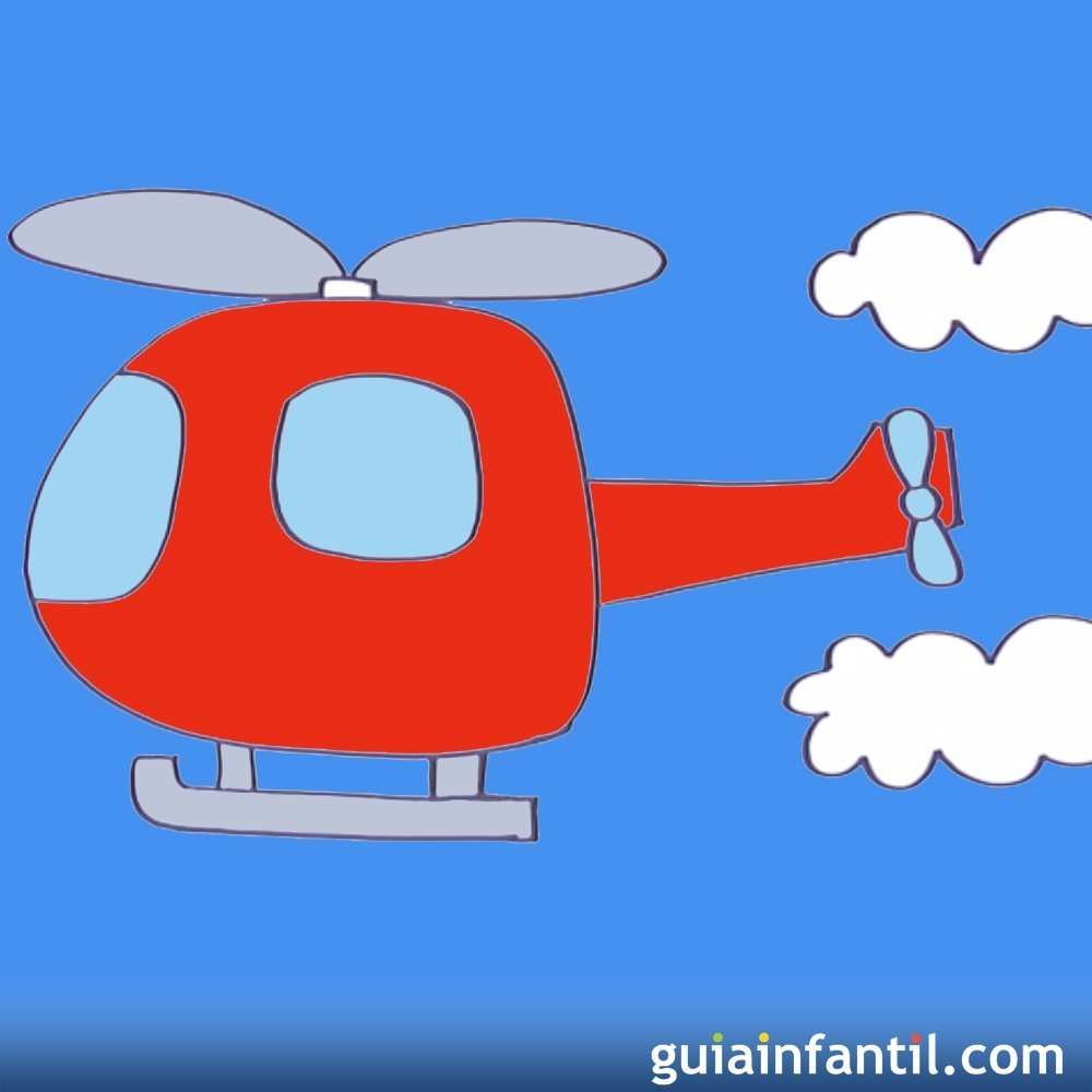 Cómo Hacer, Paso A Paso, Un Dibujo De Un Helicóptero