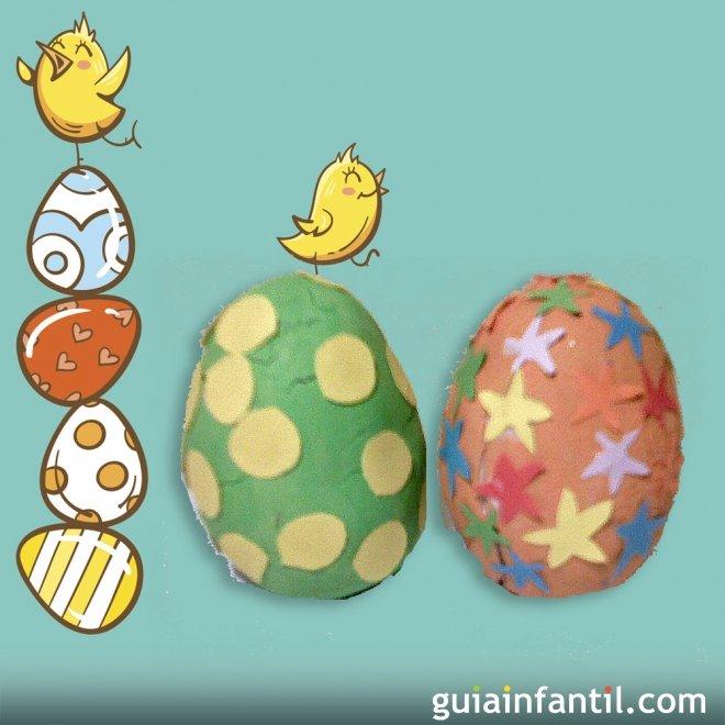 Manualidades Para Ninos Huevo De Pascua De Plastilina