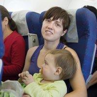 El primer viaje en avión con el bebé