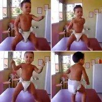 El éxito y la espontaneidad de un bebé que baila samba