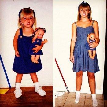 Recrear las fotos de nuestra infancia. Antes y ahora