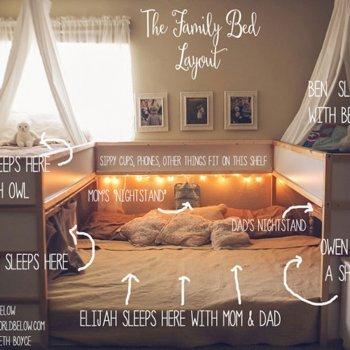Una cama para que hijos y padres duerman juntos