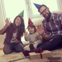 Feliz Año Nuevo. Demos la bienvenida al nuevo año con los niños