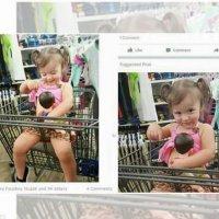 La reacción ante una foto de su hija amamantando a su muñeco