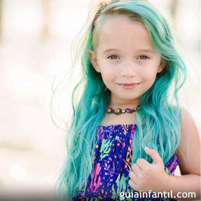 Como pintar el pelo de color azul