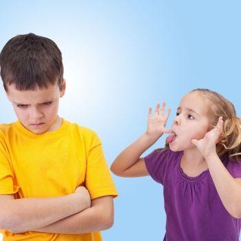 Cómo enseñar al niño a enfrentarse a las palabras ofensivas
