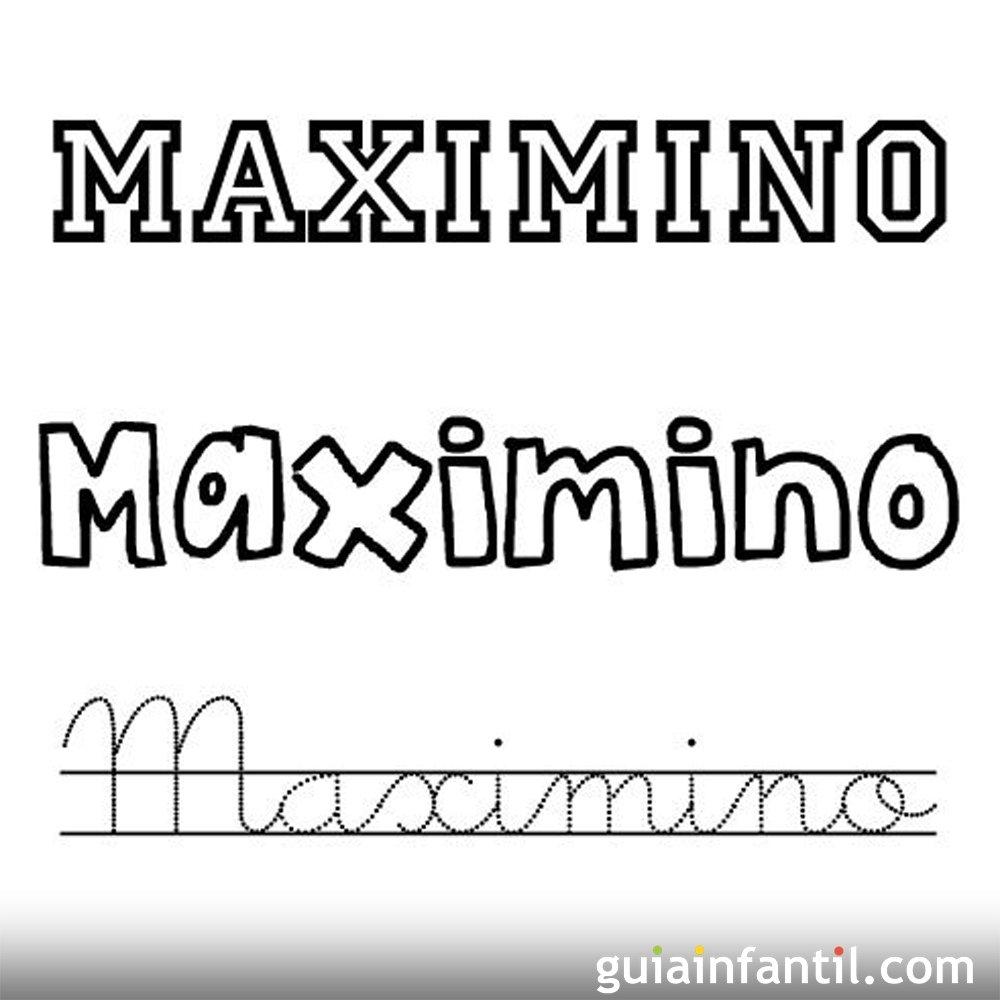 Nombres del santo de Mayo para colorear con los niños