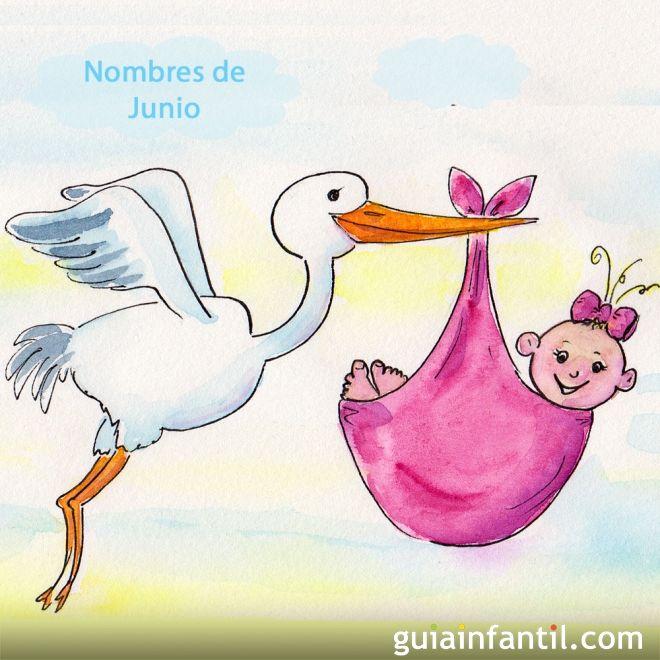 Nombres del santo de Junio para colorear con los niños