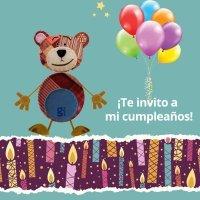 Invitaciones de cumpleaños con el Oso Traposo para imprimir