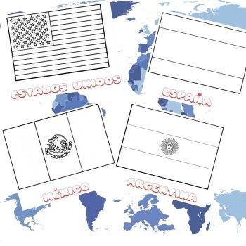 Dibujos de banderas