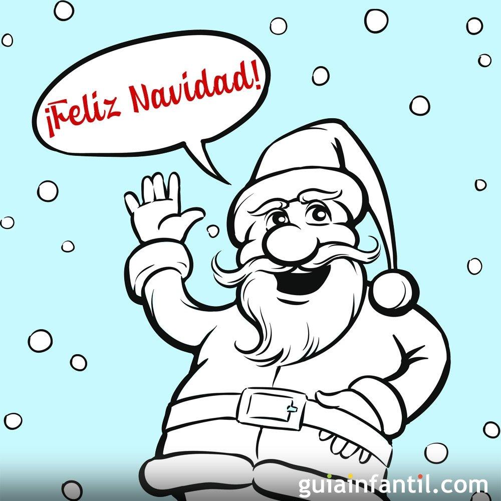 Felicitaciones De Navidad Para Infantil.Frases De Navidad Con Dibujos Para Colorear E Imprimir