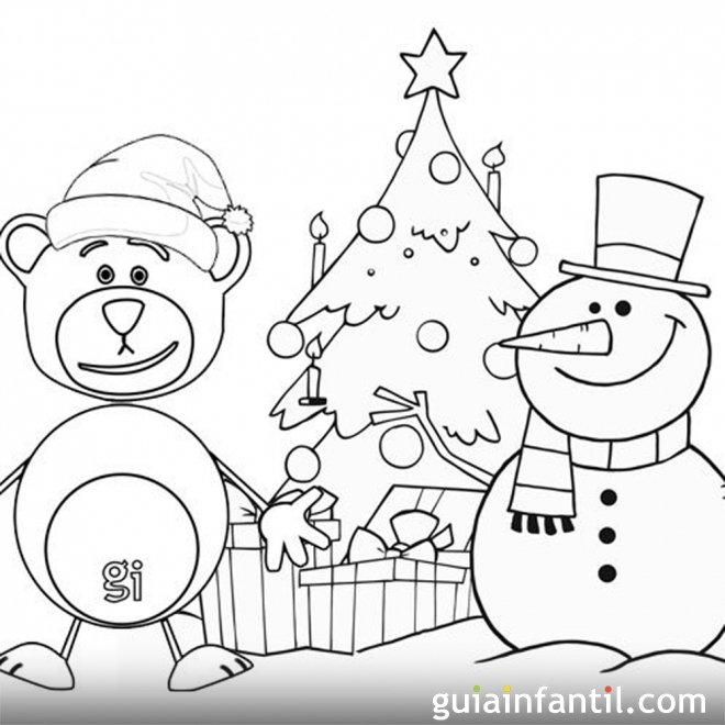 Postales de navidad con traposo para imprimir y colorear - Dibujos tarjetas navidenas ...