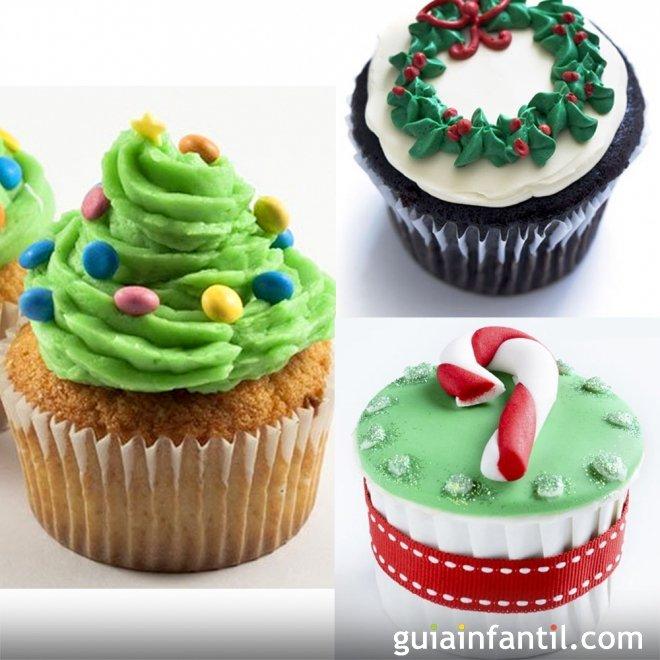 ideas para decorar cupcakes de navidad