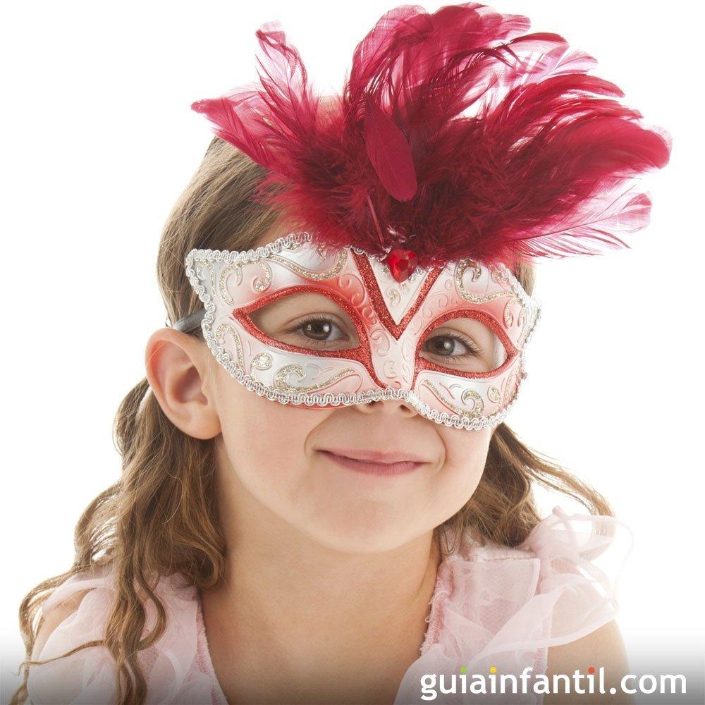 Antifaces para niños y padres. Manualidades de Carnaval
