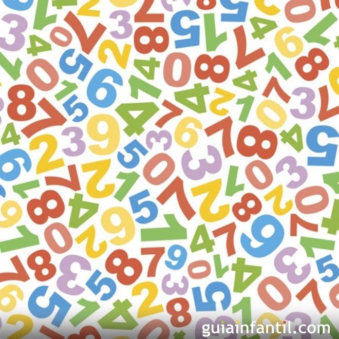 Dibujos de números para colorear e imprimir
