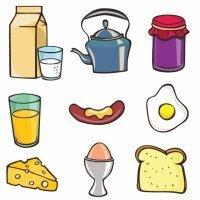 Dibujos para colorear de comidas y alimentos