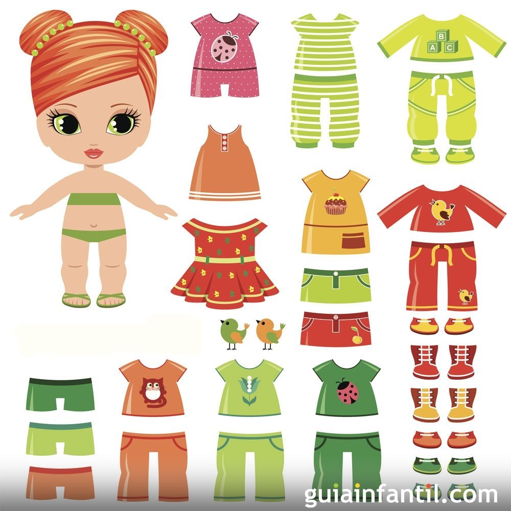 Dibujos para colorear de prendas de ropa