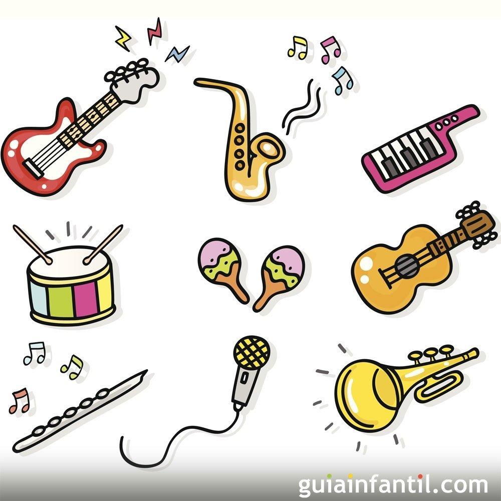 Dibujos para colorear de instrumentos de música