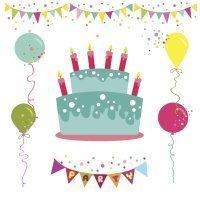 Dibujos para colorear de fiesta de cumpleaños