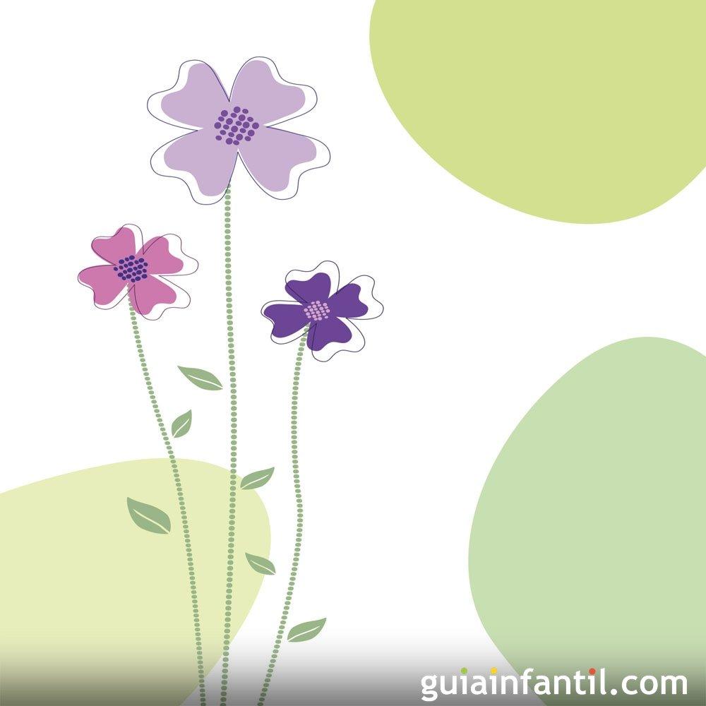 Dibujos para colorear con niños de flores