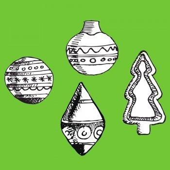 Dibujos de bolas navideñas
