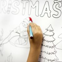 Nombres navideños de niño para imprimir y colorear