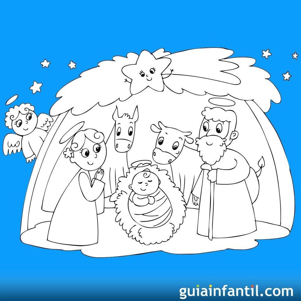 Dibujos para recortar y montar un Beln de Navidad