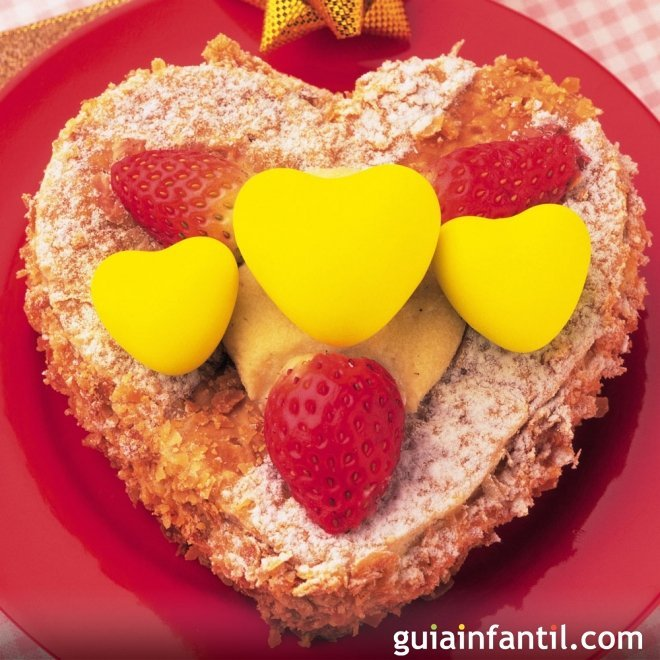 Recetas dulces con formas de corazón para niños