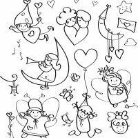 Dibujos de la paz y el amor para pintar con niños