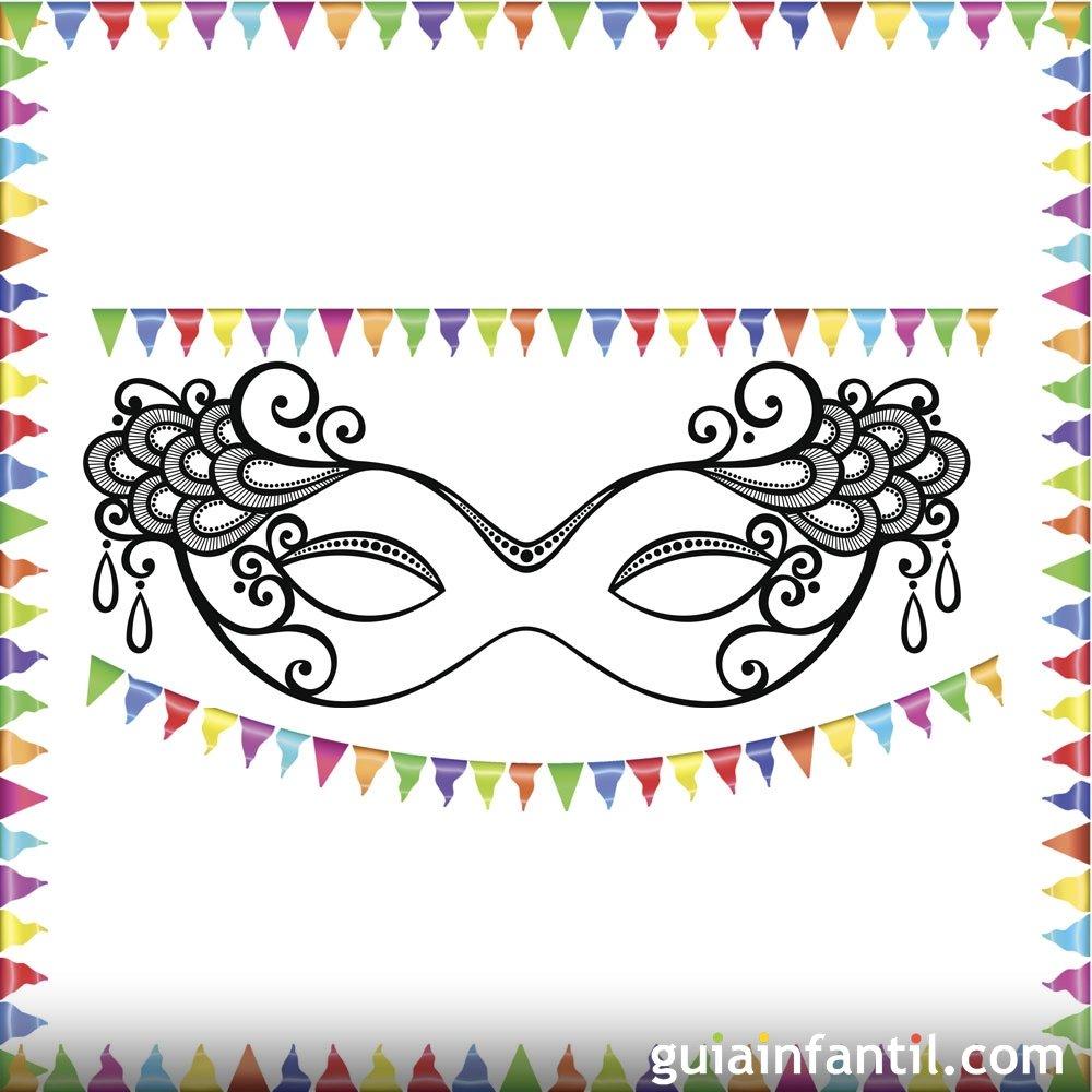 Gorro de buf n de carnaval para colorear dibujos de fiesta de carnaval para pintar con ni os - Dibujos originales para pintar ...
