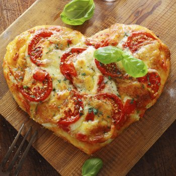 Recetas saladas con forma de corazón
