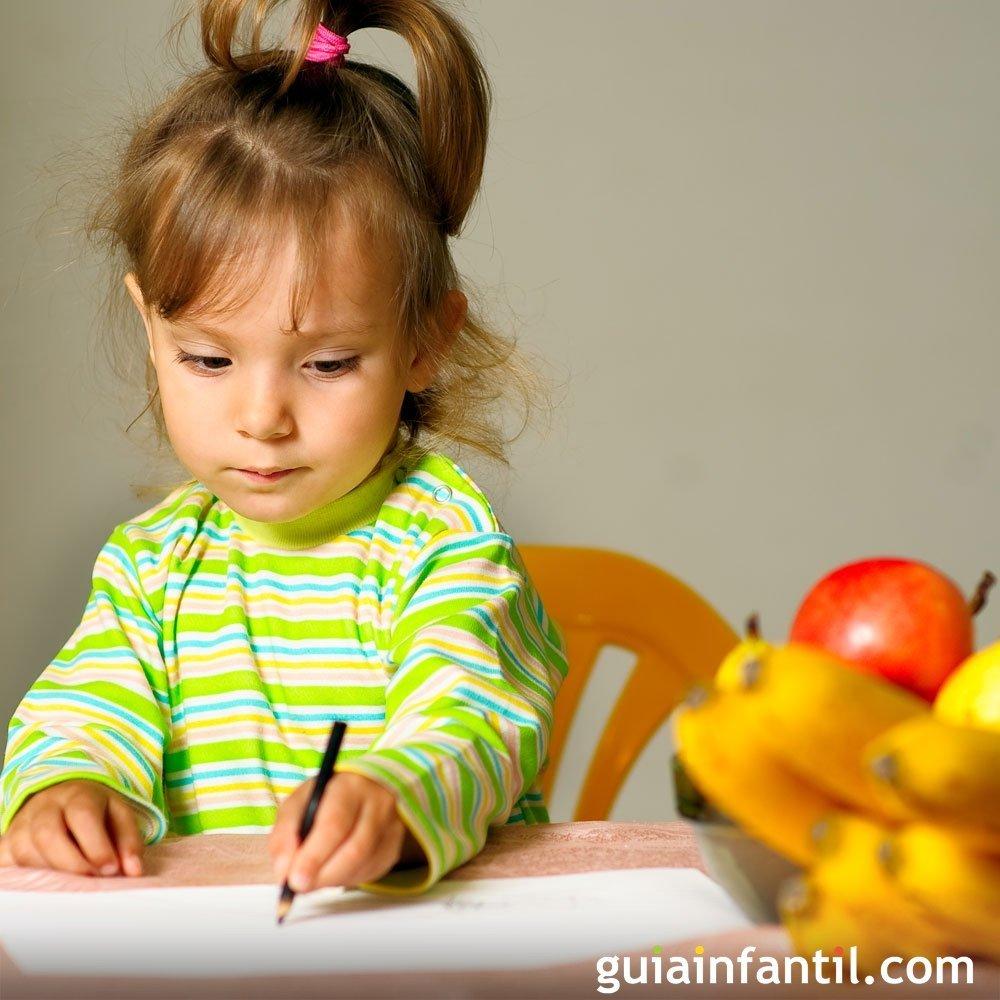 Dibujos de frutas para colorear con los niños
