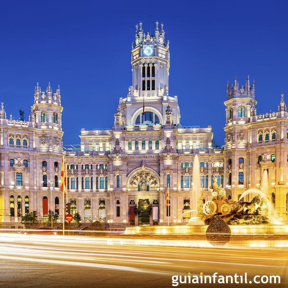 Viajar con los niños. Fotos de Madrid