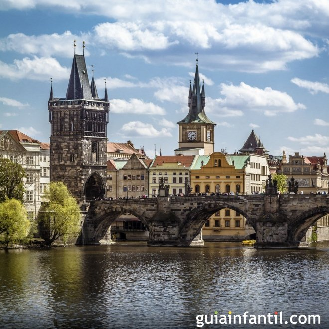 Viajar con los niños. Fotos de Praga